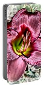 Foiled Beauty - Daylily Portable Battery Charger
