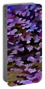 Foliage Abstract In Blue, Pink And Sienna Portable Battery Charger