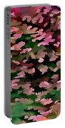Foliage Abstract In Pink, Peach And Green Portable Battery Charger