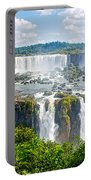 Foliage In And Around Waterfalls In Iguazu Falls National Park-brazil  Portable Battery Charger