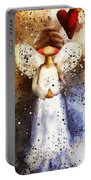 Folk Art Angel Portable Battery Charger