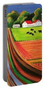 Folk Art Farm Portable Battery Charger