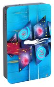 Folk Art Galactic Space Fish Portable Battery Charger