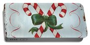 Folk Candy Cane Portable Battery Charger