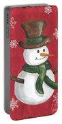 Folk Snowman Portable Battery Charger