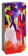 Folks At The Blue Sea By August Macke Portable Battery Charger