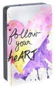 Follow Your Heart Portable Battery Charger