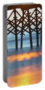 Folly Beach Abstract Portable Battery Charger