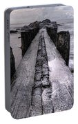 Folly Beach Pilings Charleston South Carolina Portable Battery Charger