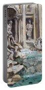 Fontana Di Trevi Rome Portable Battery Charger