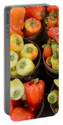 Food - Peppers Portable Battery Charger by Paul Ward