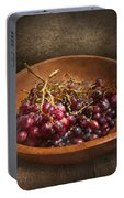 Food - Grapes - A Bowl Of Grapes  Portable Battery Charger