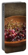 Food - Grapes - A Bowl Of Grapes  Portable Battery Charger by Mike Savad
