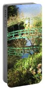 Foot Bridge Reflections In Monet's Garden Portable Battery Charger
