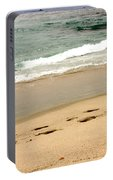 Foot Prints In The Sand.jpg Portable Battery Charger