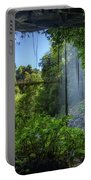 Footbridge And Crystal Falls  In The Rainforest Of Dorrigo In Australia Portable Battery Charger