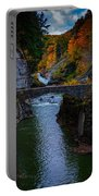 Footbridge At Lower Falls Portable Battery Charger