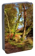 Footpath At The Edge Of Lantys Tarn In The Lake District Cumbria Portable Battery Charger