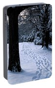 Footprints In The Snow Portable Battery Charger