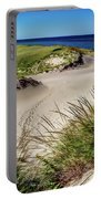 Footsteps In The Dunes Portable Battery Charger