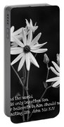 For God So Loved Black-eyed Susan Flower Portable Battery Charger