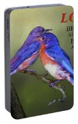 For Love Of Bluebirds And Scripture Portable Battery Charger
