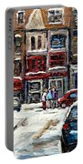 For Sale Original Paintings Montreal Petits Formats A Vendre Downtown Montreal Rue Stanley Cspandau  Portable Battery Charger