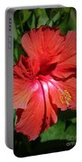 For The Love Of Hibiscus Portable Battery Charger