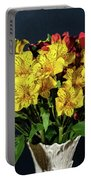 Foral Bouquet Of Red And Yellow Astomelia Portable Battery Charger