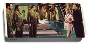 Forbidden Planet In Cinemascope Retro Classic Movie Poster Indoors Portable Battery Charger