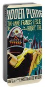 Forbidden Planet In Cinemascope Retro Classic Movie Poster Portable Battery Charger