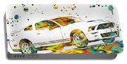 Ford Mustang Paint Splatter Portable Battery Charger
