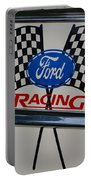 Ford Racing Emblem Portable Battery Charger