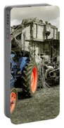 Fordson And The Threshing Machine Portable Battery Charger
