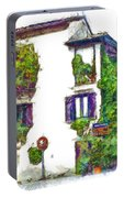 Foreshortening Of House Covered With Climbing Plants Portable Battery Charger