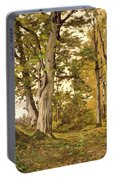 Forest At Fontainebleau Portable Battery Charger
