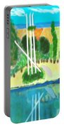 Forest At The Shore Portable Battery Charger