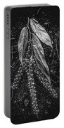Forest Botanicals In Black And White Portable Battery Charger