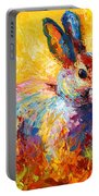Forest Bunny Portable Battery Charger by Marion Rose