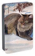Forest Cat Portable Battery Charger