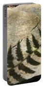 Forest Fern Shadows Portable Battery Charger