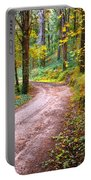 Forest Footpath Portable Battery Charger by Carlos Caetano
