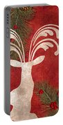 Forest Holiday Christmas Deer Portable Battery Charger