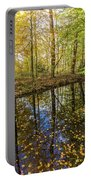Forest Leaf Reflection Portable Battery Charger