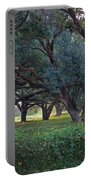 Forest Of Green Bw Portable Battery Charger