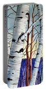 Forest Of Trees Portable Battery Charger