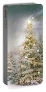 Forest Of Trees In Wintergreens Portable Battery Charger