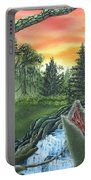 Forest Sunset Cascade Portable Battery Charger