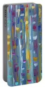 Forest Through The Trees, Abstract Art Portable Battery Charger