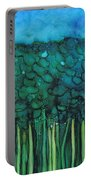 Forest Under The Full Moon - Abstract Portable Battery Charger